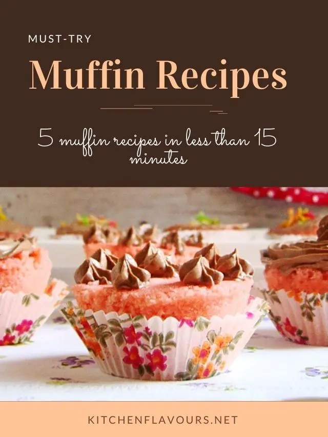 5 Muffin Recipes You Can Make Under 15 Minutes