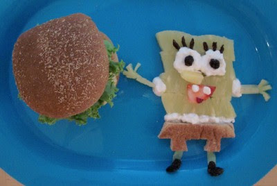 Daddy Krabby Patties with a side of Sponge Bob!