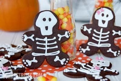 Skeleton Gingerbread Man Cookies