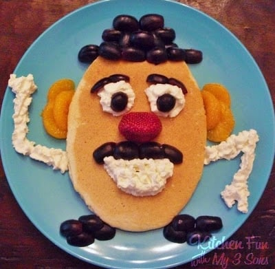 Mr. Potato Head Pancakes