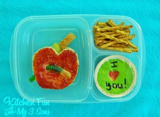 Easy Apple Bento School Lunche