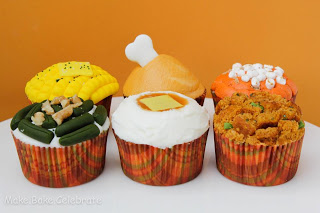 Thanksgiving Dinner Cupcakes