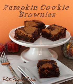 Pumpkin Cookie Brownies