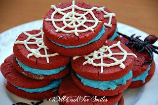 Spider Man Red Velvet Cookies