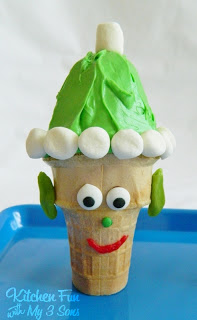 Christmas Cake Cones including a Elf, Rudolph the Red Nose Reindeer, & Santa!
