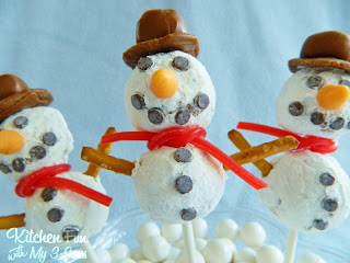 Easy Snowman Pops..no frosting!!