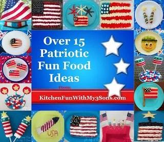Over 15 Patriotic Fun Food Ideas..Happy Memorial Day!!!