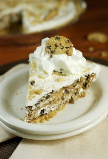 No Bake Chocolate Chip Cookie Pie