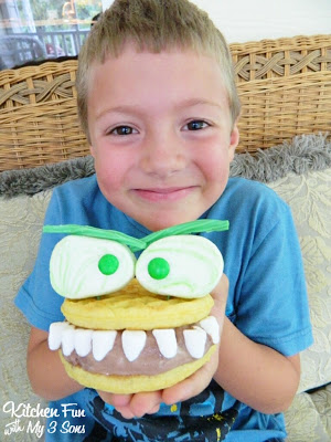 Monster Waffle Ice Cream Sandwich