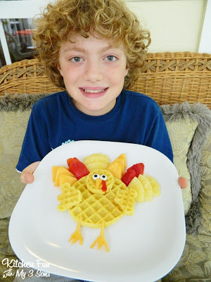 Here is my oldest with this Waffle Turkey
