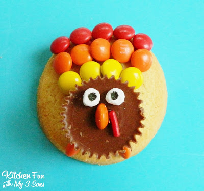 Easy Reese's Peanut Butter Cup Turkey Cookies