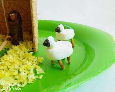 Marshmallow and Pretzel Rod Sheep