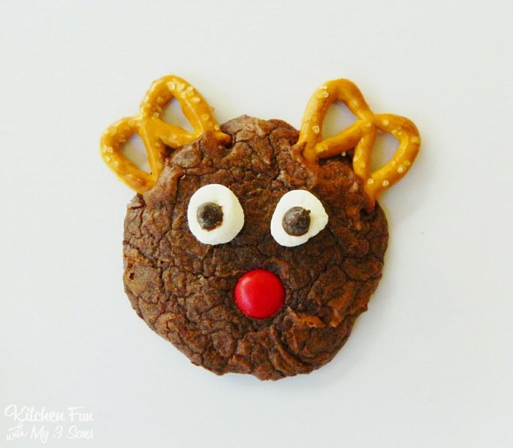 Easy Rudolph Brownie Cookies