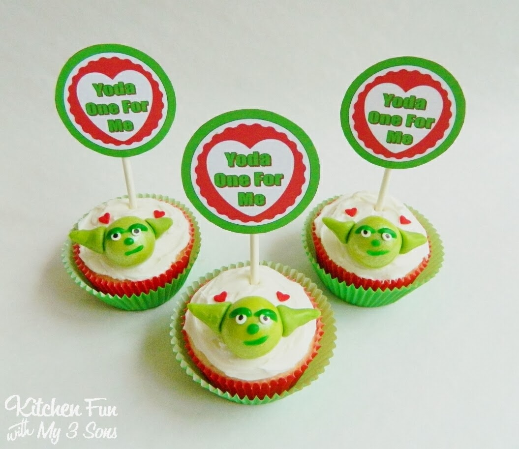 Star Wars Yoda Cupcakes For Valentines Day Including A