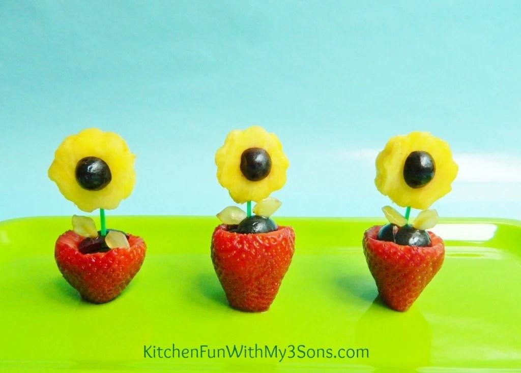 Fruit Flower Snack for Mother's Day!