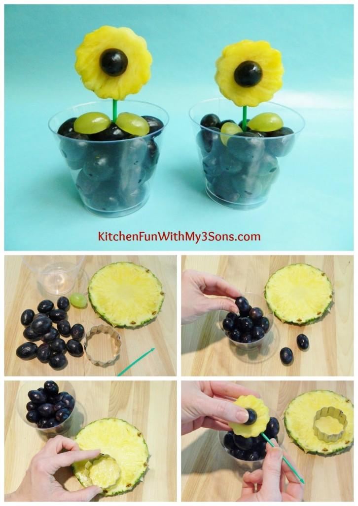 Easy Fruit Sun Flower Snack for Mother's Day!