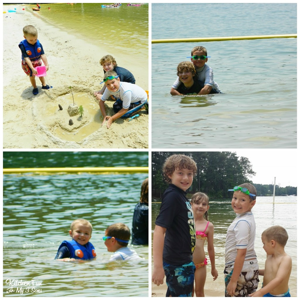 Lots of beach play & making new friends