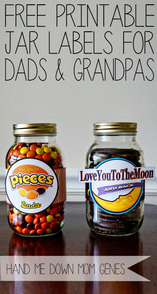 Father's Dy Jar Labels for Father's Day