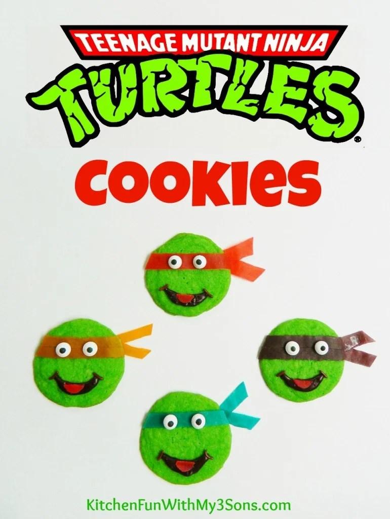Easy Teenage Mutant Ninja Turtle Cookies