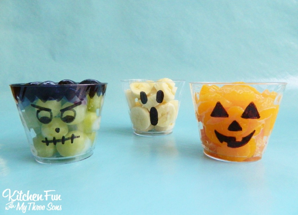 Halloween Frightening Fruit Cups