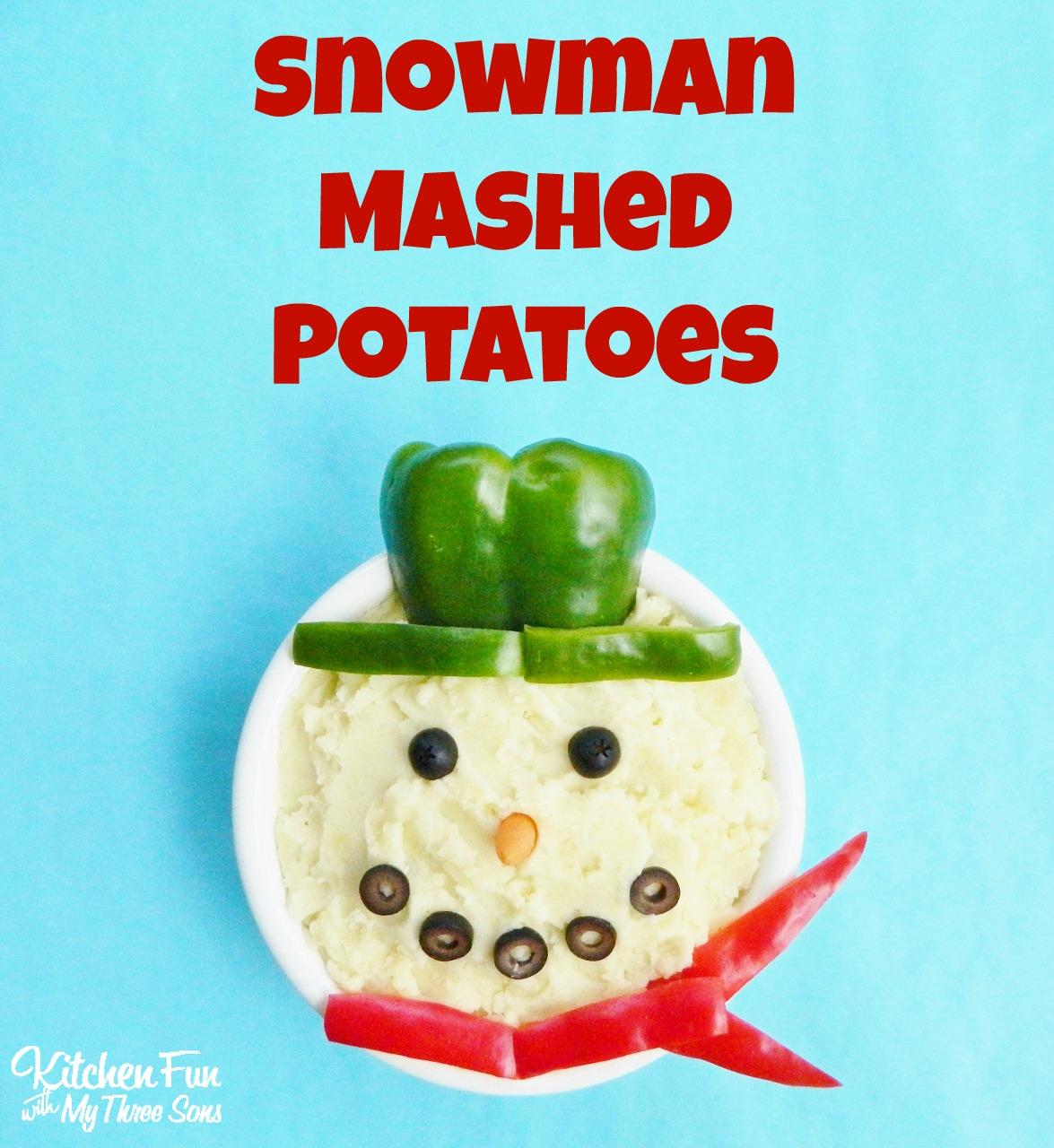 Snowman Mashed Potatoes For Christmas Dinner Amp The BJs