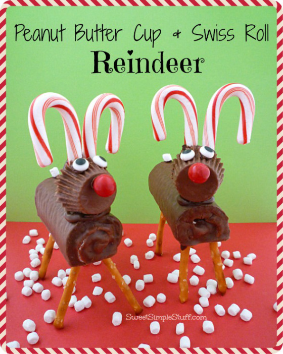 Reese's and Swiss Roll Reindeer