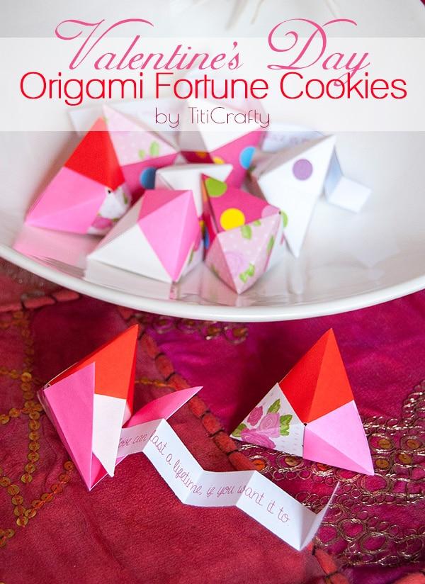 Valentine's Origami Fortune Cookie Craft