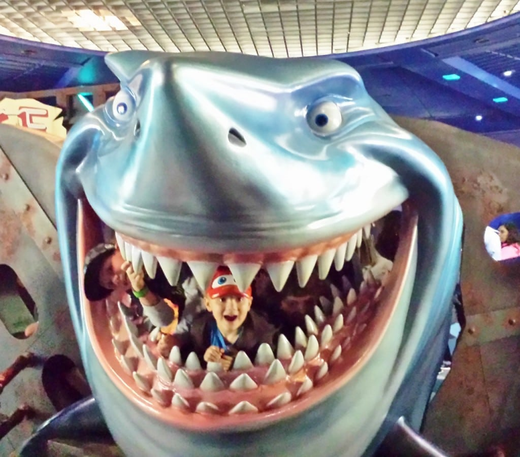 My boys were eaten by Bruce from Finding Nemo and we went flying around the world at Soarin'!