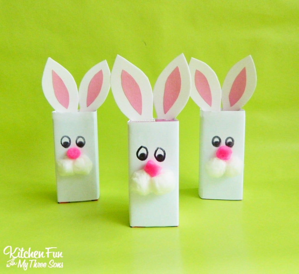 Bunny Juice Boxes for a Preschool Easter Party! KitchenFunWithMy3Sons.com