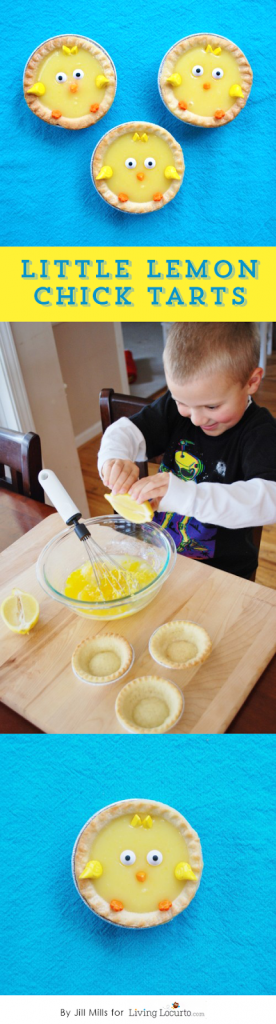 Little Lemon Chick Tarts! The lemon curd filling is made in the microwave....so easy to make!