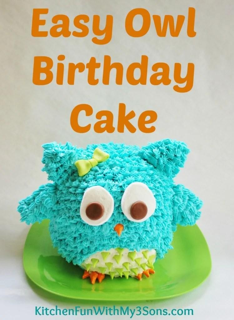 How to make owl birthday cake