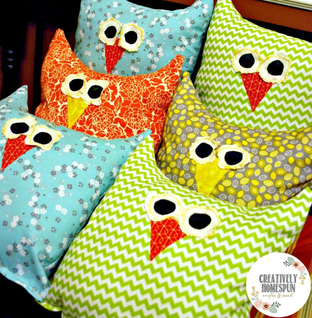 DIY Simple Sweet Owl Pillows