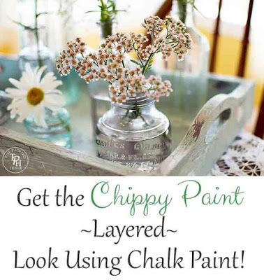 Get the Chippy Paint Layered Look using Chalk Paint