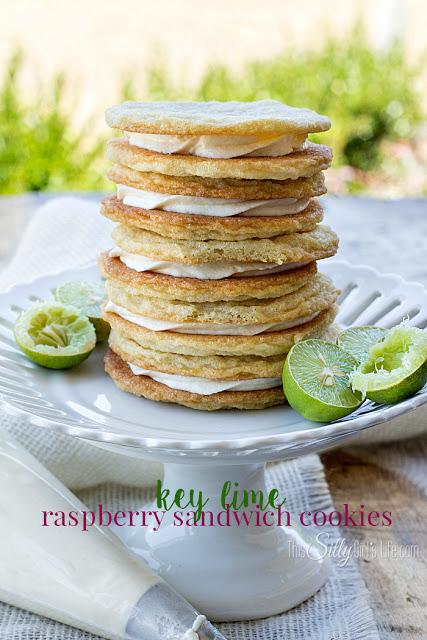 Keylime Raspberry Sandwich Cookies