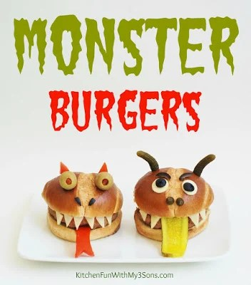 Monster Burgers from KitchenFunWithMy3Sons.com