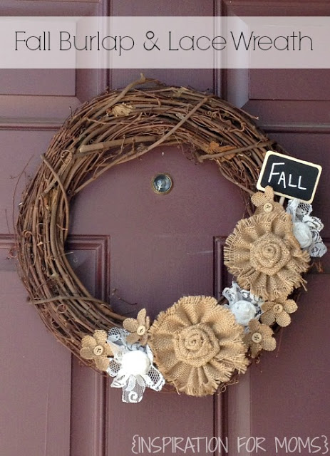 Fall Burlap & Lace Wreath