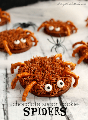 Chocolate Sugar Cookie Spiders