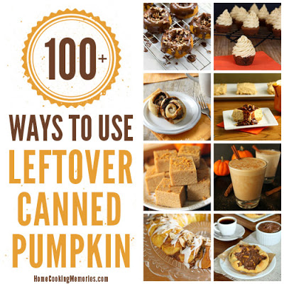 110 Ways to Use Left Over Canned Pumpkin