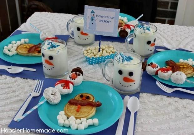 Snowman Breakfast for Kids!