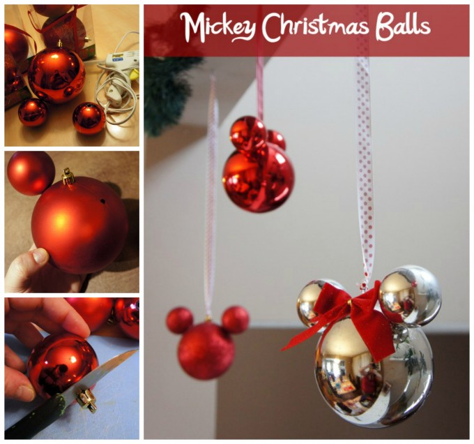 Mickey Mouse Ball Ornaments for Christmas