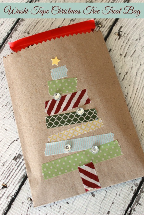 Washi Tape Gift Wrapping for Christmas