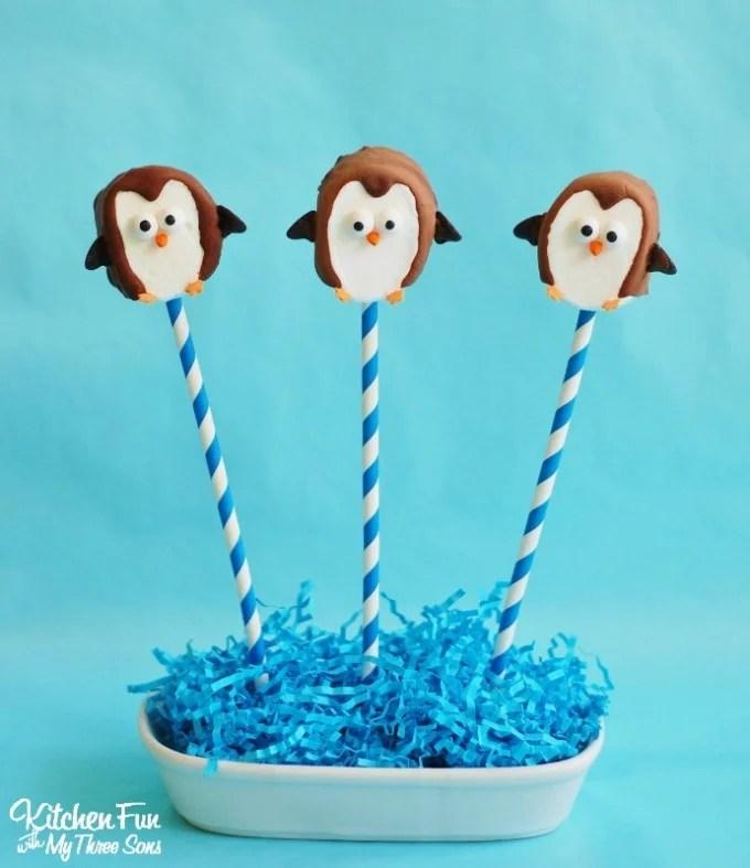 Easy Marshmallow Penguin Pops for Kids