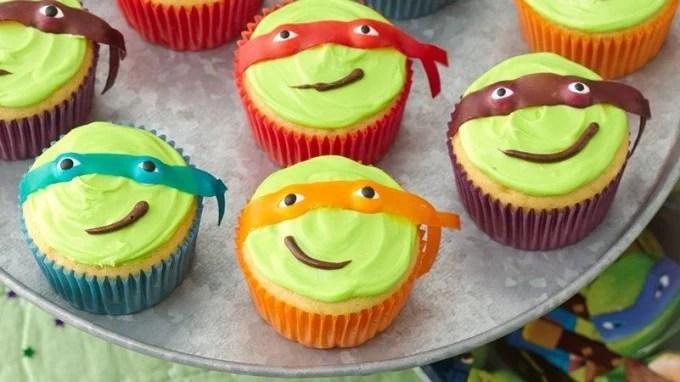 Easy Teenage Mutant Ninja Turtle Cupcakes