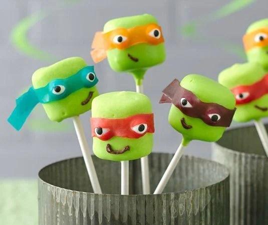 Ninja Turtle Marshmallow Pops