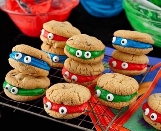 Easy Ninja Turtle Sandwich Cookies