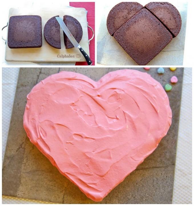 Easy Valentine Heart Cake