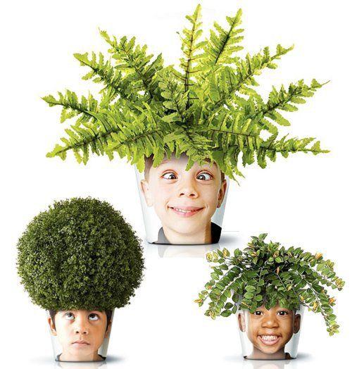DIY Chia Pet Kid Photo Planters...such a fun Spring craft idea!