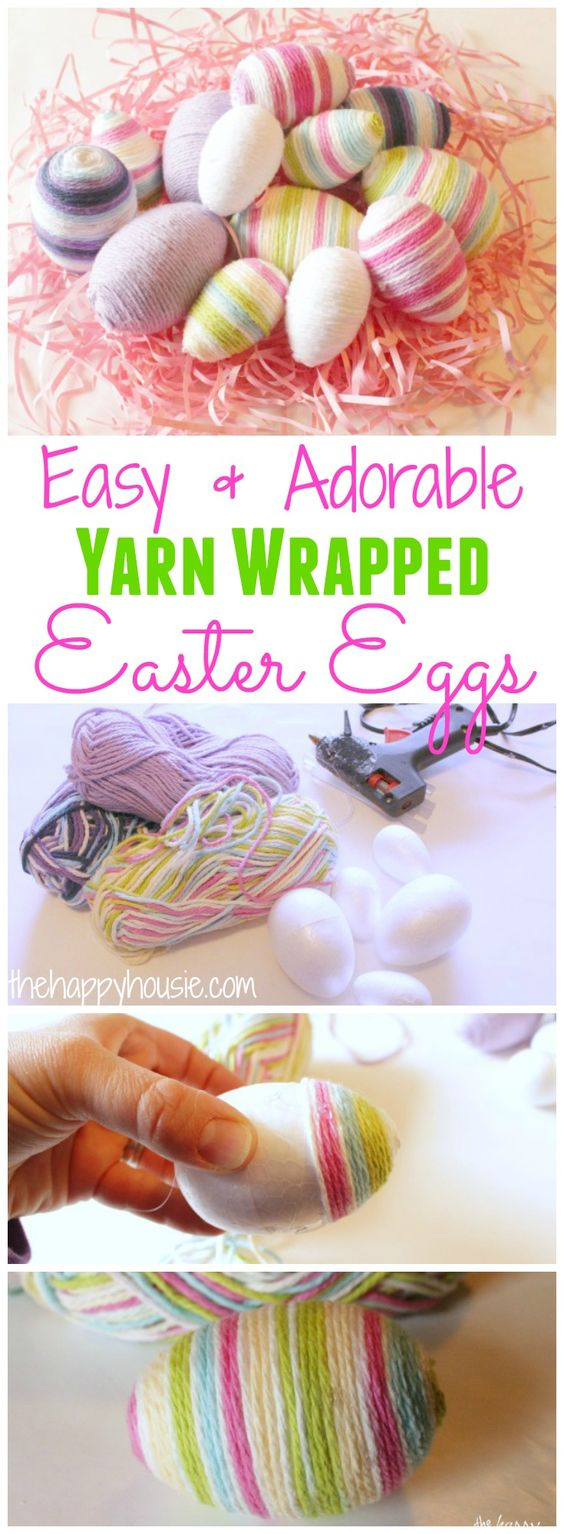Yarn Wrapped Easter Egg Craft