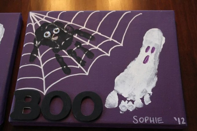 Hand & Footprint Halloween Canvas