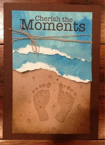 Beach Sand Footprint Paper Art....awesome Hand & Footprint Art Ideas!